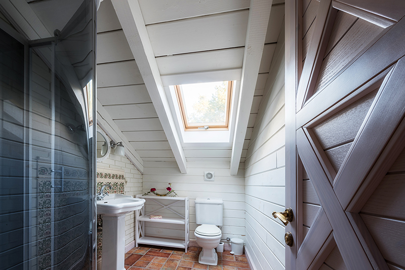 Newly restored bathroom seen while preforming home re-inspection services