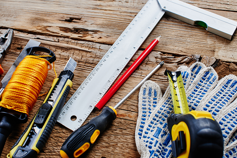 Maintenance tools seen after preforming home inspection services