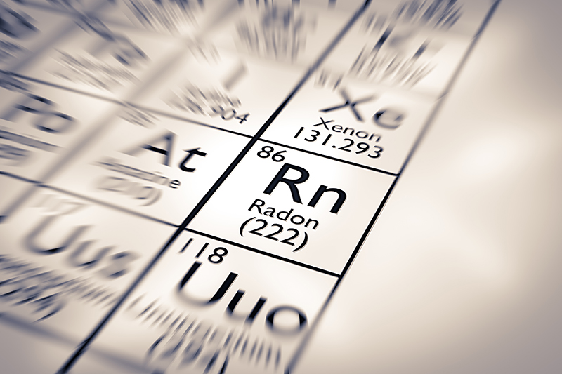 Focus on Radon Inspection Services Chemical Element from the Mendeleev Periodic Table